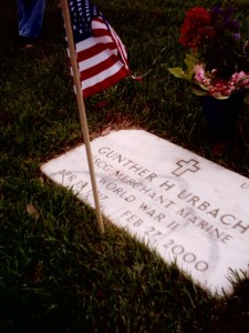 Merchant marine grave at National Cemetery
