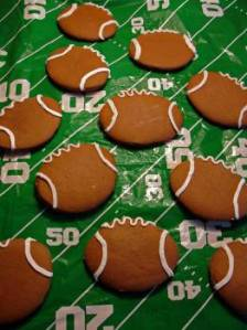 Gingerbread football cookies.  Image: MorgueFile.com