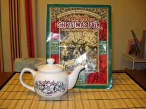 Brochure and complimentary teapot from High Tea at Cuthbert's Tea Shoppe.  Photo: Elizabeth Urbach.