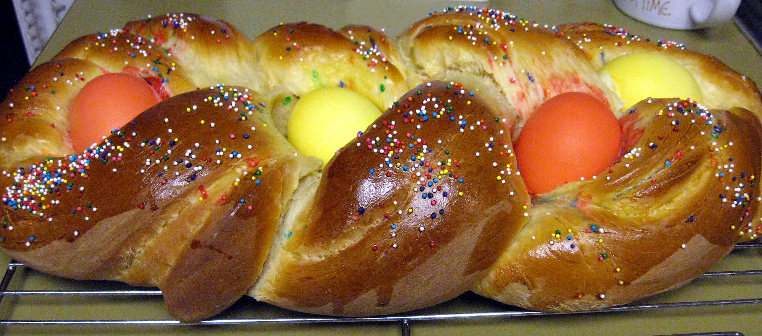 Italian Easter Bread Delicious With A Cup Of Black Tea
