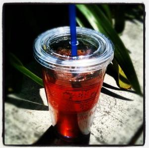 Peet's iced tea.  Photo from the Peet's company Facebook page.