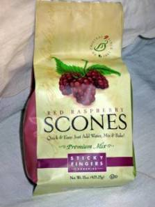 Sticky Fingers Red Raspberry Scone mix.  Photo: Elizabeth Urbach