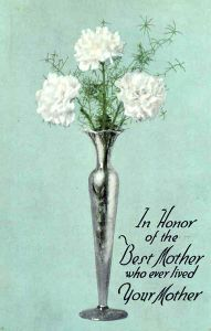 Mother's Day post card, 1916, Northern Pacific Railway.  Wikimedia Commons