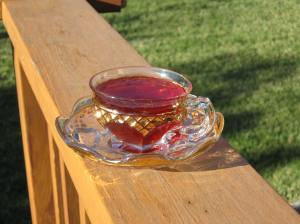 Pomegranate tea punch.  Photo: Elizabeth Urbach.