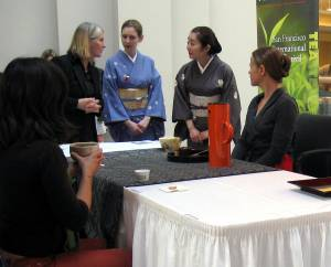 Demonstration of Japanese tea ceremony from 2013 Tea Festival.  Photo: Elizabeth Urbach.