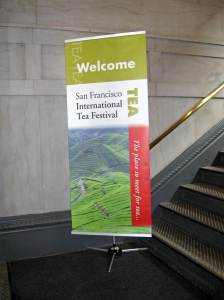 San Francisco International Tea Festival banner from 2012.  Photo: Elizabeth Urbach