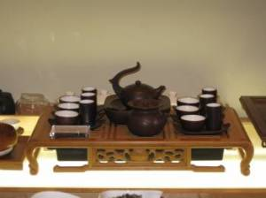 Tea tasting equipment at Red Blossom Tea Company in San Francisco.  Photo: Elizabeth Urbach.