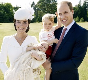 family photo of the Duke and Duchess of Cambridge, Prince George and Princess Charlotte.  Photo: Mario Testino.  Source: Kensington Palace Twitter feed.